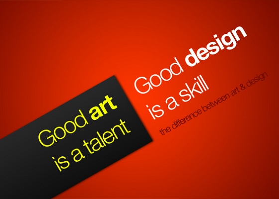 Is there a difference between art and design?